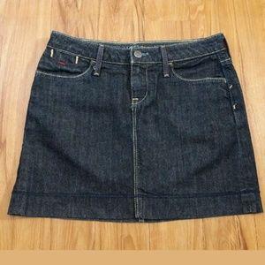 Banana Republic Premium Denim Blue Mini Skirt